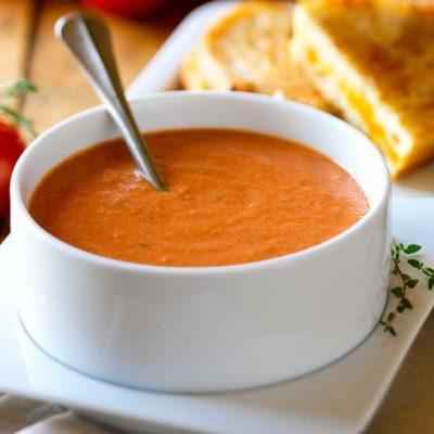 Sous vide rajčatová polévka (za studena)