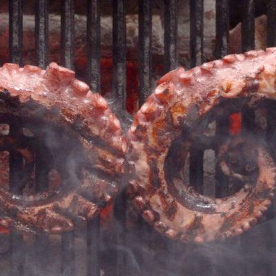 Jemná grilovaná sous vide chobotnice