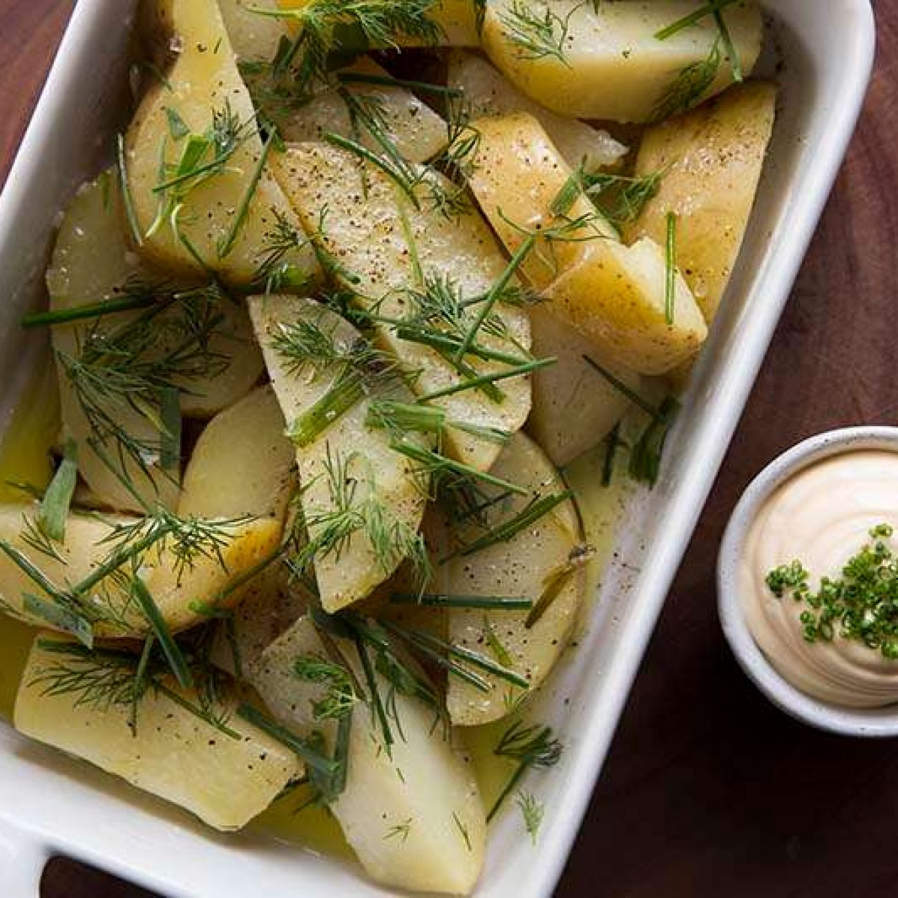 Gold Yukon brambory připravené sous vide