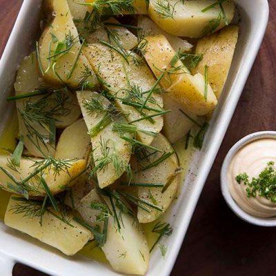 Sous vide brambory připravené sous vide