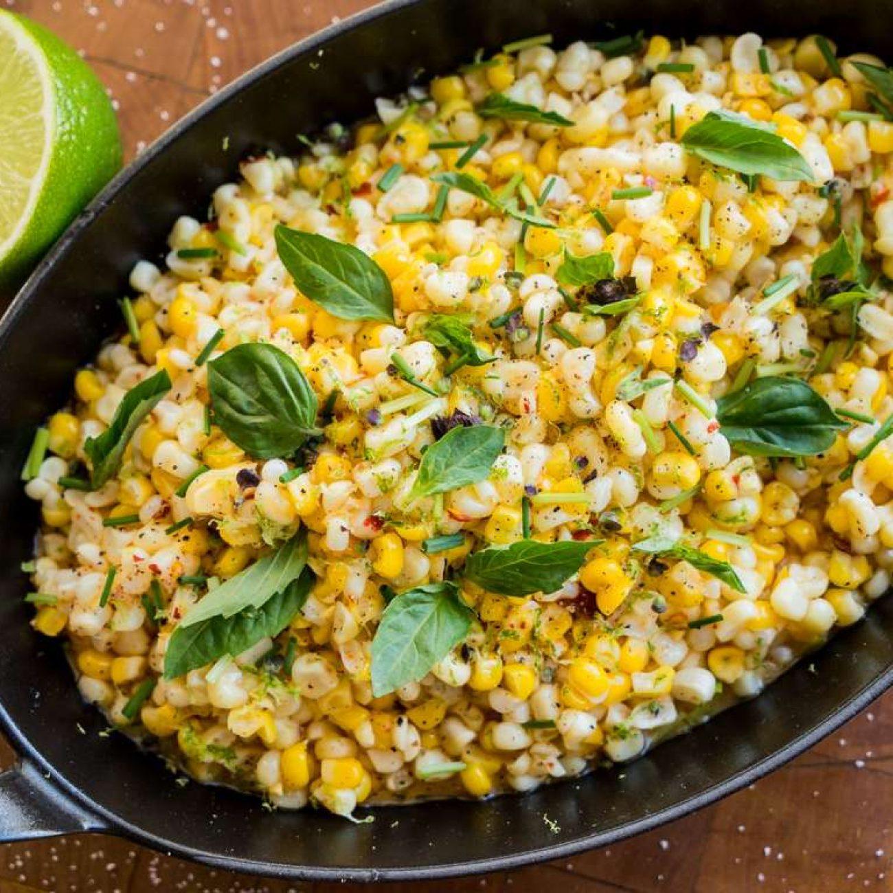 Křupavá kukuřice s máslem a bylinkami