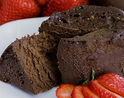 Čokoládový sous vide dort bez mouky