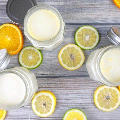 sous vide citrusový jogurt