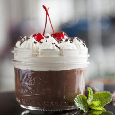čokoládový pudink sous vide