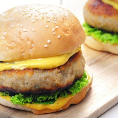 rybí burgery s aioli